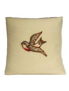 Studio DKS - Swallow Tattoo Wool & Cashmere Pillow