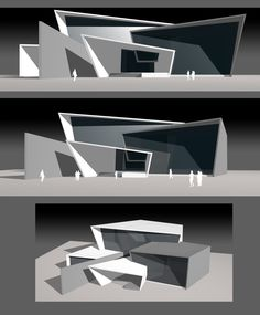 Architecture - Architecture by Sanket Navghare at Conceptual Model Architecture, Architecture Model Making, Architecture Concept Drawings, Architecture Sketchbook, Museum Architecture, Cultural Architecture, Futuristic Architecture, Architecture Plan, Triangular Architecture