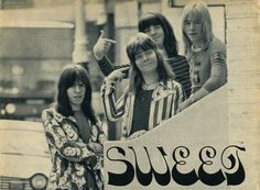 Glam rock band the Sweet sporting some tasty jackets