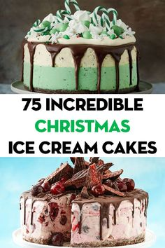75 show-stopping Christmas ice cream cakes - Christmas Desserts Ice Cream Desserts, Frozen Desserts, Ice Cream Recipes, Ice Cream Cakes, Xmas Food, Christmas Cooking, Christmas Desserts, Food Cakes, Cupcake Cakes