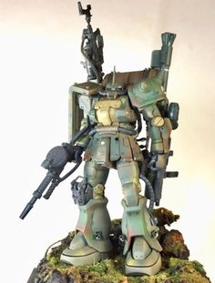 Inspired from the famous G-World book by Naoto Arakawa , this is the Zaku II F2 G-World-Revive by kaizou-o-p . Based from HGUC 1/144 Zak...