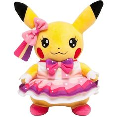 Pokemon Center Original Cosplay Pikachu ❤ liked on Polyvore featuring plushies, pokemon, fillers, home and plush
