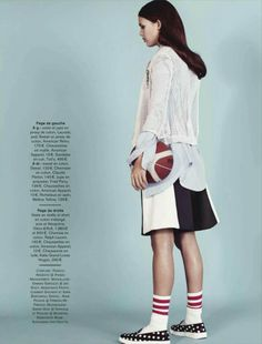 Sarah D gets sporty for Paolo Zerbini in the latest issue of Glamour France…