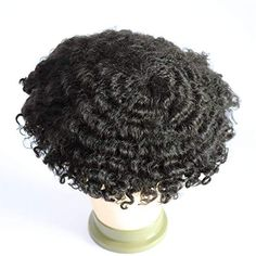 Hair Unit, Best Weave, Afro Men, Afro Curls, Black Men Hairstyles, Man Weave, Hair Density, Off Black, Remy Human Hair
