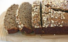 banana bread with almonds & chia seeds