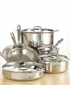 All-Clad Copper-Core 10-Piece Cookware Set - Cookware - Kitchen - Macy's