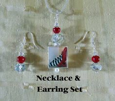 Scrabble Jewelry  Pendant Earring Set  Ruby by MaDGreenCreations, $12.95