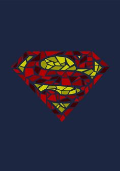 Superman logo - Stained/Shattered Glass - League by Casey Jennings, via Behance Superman Images, Superman Art, Superman Man Of Steel, Superman Logo, Batman, Marvel, Superman Tattoos, Superman Symbol, Superman Wallpaper