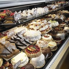 a richly stocked Bakery Cake Case from Nugget Markets, California