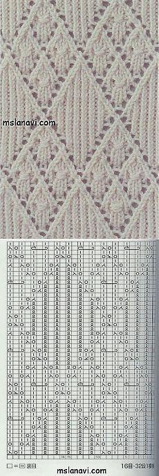 Diamond Lace with Chart