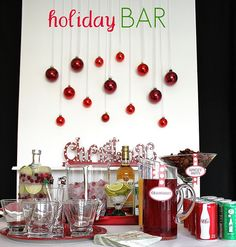 If you want to style your christmas bar, go for this. It has a whole lot of lovely details to recreate