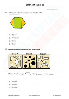 Olympiad Exam, Math Olympiad, Sample Question Paper, Sample Paper, Class 1 Maths, Online Test Series, 1st Grade Math Worksheets, Ppr, Number Sense
