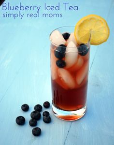 Blueberry Iced Tea. Great use of fresh blueberries in season.