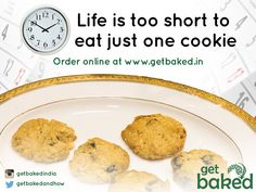 Delicious Cookies by #Getbaked. Limited time offer. 5 for Rs 100/-. Order Now @ http://www.getbaked.ooo/shop/