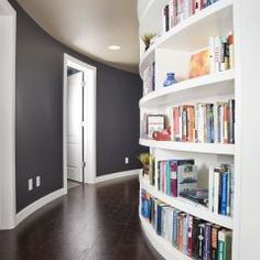 curved wall/bookcase