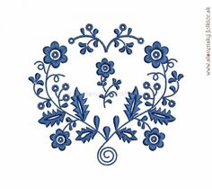Výšivka Výšivka Záhorie modrá, 13x12 cm