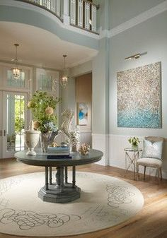Sophisticated Coastal Home Bunch Ocean Air Benjamin Moore Love This Paint Color