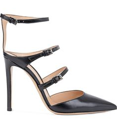 GIANVITO ROSSI - Buckled leather courts | Selfridges.com