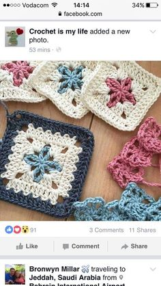 Transcendent Crochet a Solid Granny Square Ideas. Inconceivable Crochet a Solid Granny Square Ideas. Crochet Squares, Granny Square Crochet Pattern, Crochet Granny, Crochet Motif, Crochet Yarn, Easy Crochet, Crochet Stitches, Granny Squares, Knitting Patterns