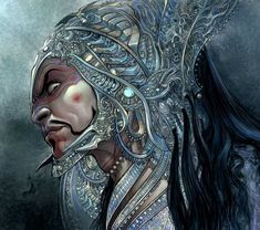 The Mahabharata has been told and depicted in various forms. However, Freelance Illustrator and Concept Artist, Mukesh Singh, never felt satisfied. Indian Art Gallery, The Mahabharata, Futuristic Armour, One With Nature, Cartoon Faces, Fantastic Art, Awesome, Freelance Illustrator, Dark Art