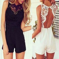 Cheap jumpsuit onesie, Buy Quality jumpsuit sexy directly from China romper shorts Suppliers: Material:Polyester+Spandex+LaceColor:White/BlackPackage include:1 Jumpsuits