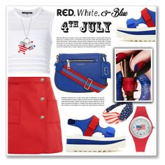 """""""red,white and blue (2)"""" by nanawidia ❤ liked on Polyvore featuring STELLA McCARTNEY, Courrèges, Thakoon and Kim Rogers"""