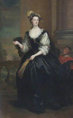 """""""The Honourable Anne Howard, Lady Yonge"""", John Vanderbank, 1737; NT 653164"""