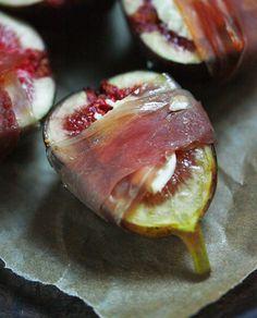 Higos con jamon, receta saludable