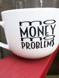 Mo Money Mo Problems mug - ceramic mug, Notorious B. Money Problems, Mo Money, Ceramics, Mugs, Paper, Unique Jewelry, Tableware, Handmade, Etsy