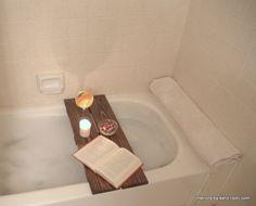 DIY Bath Caddy.  Luxury for cheap!