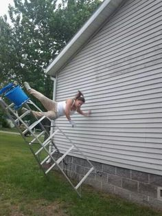 Epic Ladder Fail