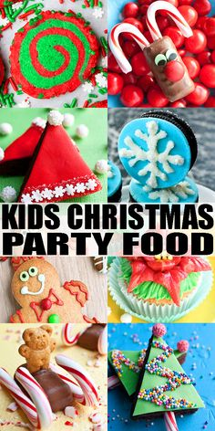 CHRISTMAS FOOD IDEAS (CHRISTMAS PARTY FOOD)- Lots of quick, easy, cute and fun Christmas ideas for kids to keep them entertained this holiday season and at Christmas parties. Many of these are great for Winter time too! Everything is included: cakes, cupcakes, cookies, brownies, no bake desserts, candies. From Cakewhiz.com #christmas #partyfood #kids #dessert #fun Best Christmas Recipes, Christmas Party Food, Christmas Hanukkah, Christmas Goodies, Simple Christmas, Christmas Ideas, Christmas Decorations, Christmas Desserts, Fun Desserts