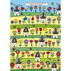 "Lali postcard game ""Les moulins"""