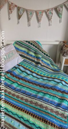 Mariette maakt het zelf: Tweede Crochet Along deken is af