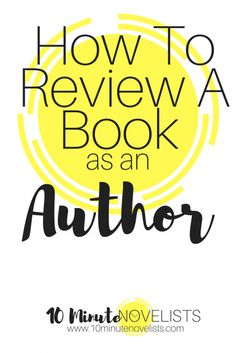 How to Review a Book as an Author
