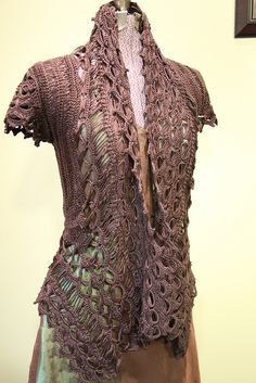 Rebel Lace Cardi by stitchdiva, via Flickr...19.99 for pattern..Wow it is beautiful tho !!! Tempting!!