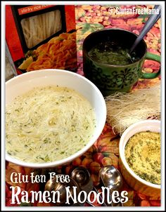 Gluten Free Ramen Noodles made with Gluten Free Mama's Chicken Soup Spice Mix