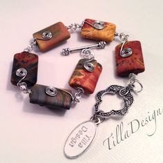 Wirebracelet with Picasso jasper from TillaDesign.