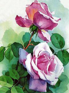 Rose - Watercolor #watercolorarts Акварельная Роза, Акварельные Художники, Акварельные Иллюстрации, Акварельные Картины, Абстрактные Картины, Картины Маслом, Художественная Роспись, Рисунки Пейзажей, Акварельные Цветы