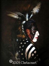 Choctaw Art Gallery - A collection of Native American Art by Choctaw artists.  (This piece is called THE DANCER)