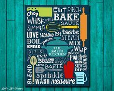 Kitchen Sign. Kitchen Wall Decor. Kitchen Decor. Kitchen Wall Art. Kitchen Word Art. Kitchen Utensils. In the Kitchen. Personalized Gift.