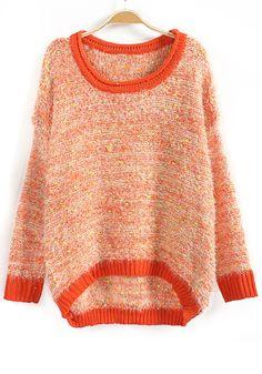 / Orange Polka Dot Wool Blend Sweater