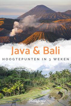 Een rondreis door Indonesië is absoluut een aanrader. Ik bezocht de eilanden Java, Bali en Nusa Lembongan. Het was een geweldige reis vol hoogtepunten. Ik laat je zien welke route we afgelegd hebben, welke plekken we bezocht hebben tijdens onze rondreis door Indonesië en ik deel natuurlijk onze beste tips voor Java en Bali. Places To Travel, Travel Destinations, Places To Visit, Uluwatu Temple, Komodo Island, Bali Travel, Lombok, Ubud, World Traveler