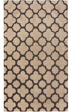 Rugs USA Homespun Moroccan Trellis Blue Rug - also in brown, but not sure if they make larger than 5x8