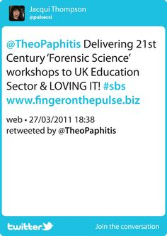 "SBS winning ""Tweet"" and ""Retweeted"" by Theo Paphitis BBC Dragon Den - Small Business Sunday competition runs on a Sunday afternoon from 5 - 7:30 pm - send Theo your tweet about your Biz including #SBS in your tweet and 6 lucky winners will have their Tweet ""RETWEETED"" http://www.pulsecsi.com"