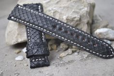Custom Black Snake Leather Watch Strap - Any Size And Color to fit many watch models by ChristianStraps on Etsy Watch Model, Snake, Models, Watches, Luxury, Trending Outfits, Unique Jewelry, Handmade Gifts, Leather