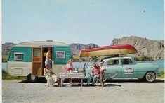 Vintage camper.