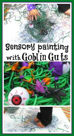 Goblin Gut Sensory Painting- FUN!