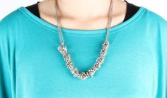 Twisted Necklace $39 - Look closely at its detailing! We love how Twisted exudes both simplicity and complexity.
