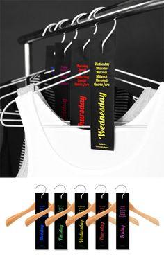 Etiqueta la ropa semanalmente   http://www.regaletes.com/etiquetas-semanales-p-1327.html $14.00